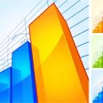 Growing chart — Stock Vector