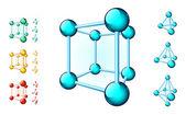 Molecular forms — Stock Vector