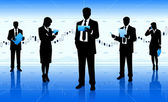 Businessmen and businesswomen — Stock Vector