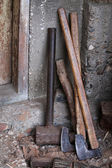 Axes wood — Stock Photo