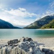 Clear mountain lake — Stock Photo