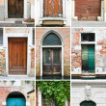 Постер, плакат: Colourful doors