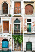 Colourful doors — Stock Photo