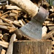 Royalty-Free Stock Photo: Firewood and ax