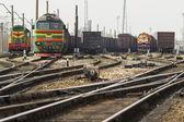 Rail road track — Stockfoto
