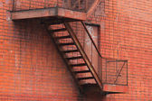 Fire Stairwell on the side of a building — Stock Photo