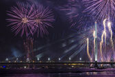 Celebratory salute in Riga — Stock Photo