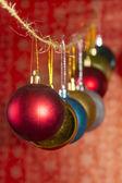 фон с рождественскими шарами — Стоковое фото