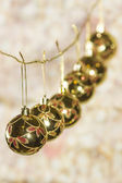 Background with Christmas balls — Stock Photo