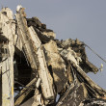 Building demolition — Stock Photo