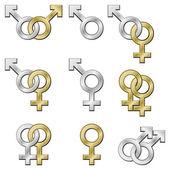 Simboli del sesso. — Vettoriale Stock