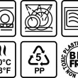 Symbols for marking plastic dishes. — Stock Vector