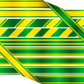 Green and yellow ribbons. — Stock Vector