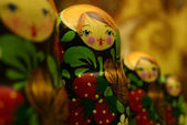 Russian dolls close-up — Stock Photo