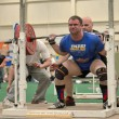 Stock Photo: Powerlifting event - squat lift