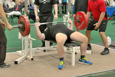 Powerlifting event - bench press lift — Stock Photo