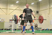 Powerlifting event - deadlift lift — Stock Photo