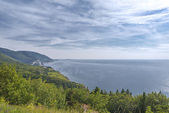 Coastal Scene on the Cabot Trail in Nova Scotia — Stock Photo