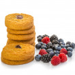 Stock Photo: Cookies with mixed berries