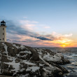 Peggys Cove's Lighthouse at Sunset — Stock Photo #40524613