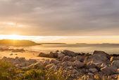 океан пляж на рассвете — Стоковое фото