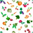 Vegetables and roots vector pattern, trimmed at edges — Stock Vector #29137697