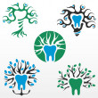 Symbols of healthy tooth — Stock Vector