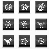 Packaging and buy icons — Stock Vector