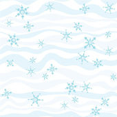 Hand-drawn winter pattern, abstract background — Stock Vector