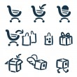 Shopping and delivery icon set — Stock Vector
