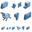 Shopping and business icon set — Stock Vector #36375271