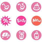 Shopping and business icon set — Stock Vector