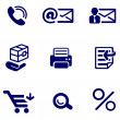 Shop and office icons set — Stock Vector #41203017