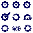 Car parts such as tires and wheels icons set — Stock Vector #41203021