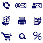 Shop and office icons set — Stock Vector