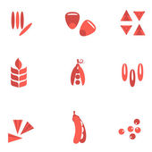 Cereals and seed flat icons — Stock Vector