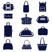 Different types of women's bags — Stock Vector