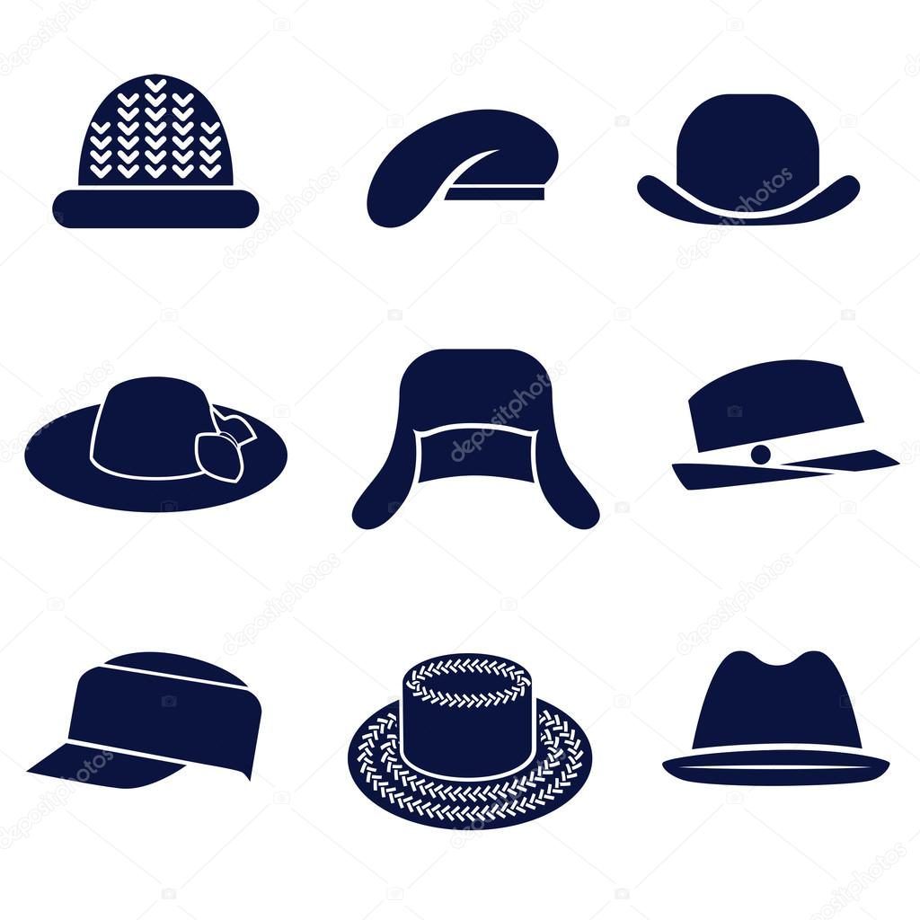 different types of womens hats stock vector 169 ksena shu