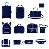Different types of men's bags — Stock Vector