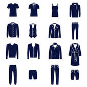 Different types of men's clothes — Stockvektor