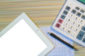 Calculation and recording — Stock Photo