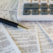 Stock Photo: Financial receipts