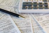 Financial receipts — Stock Photo