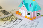 Plan to build a house — Stock Photo