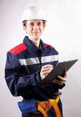 Working professional builder — Stockfoto