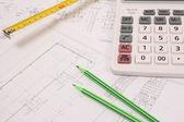 Design of construction plans — Stock Photo