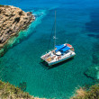 sailing on the coast of Greece — Stock Photo