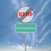 BYOD End of restrictions — Stock Photo