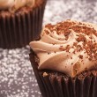 Delicious chocolate cupcakes — Stock Photo