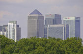 London Docklands from Greenwich — Stock Photo